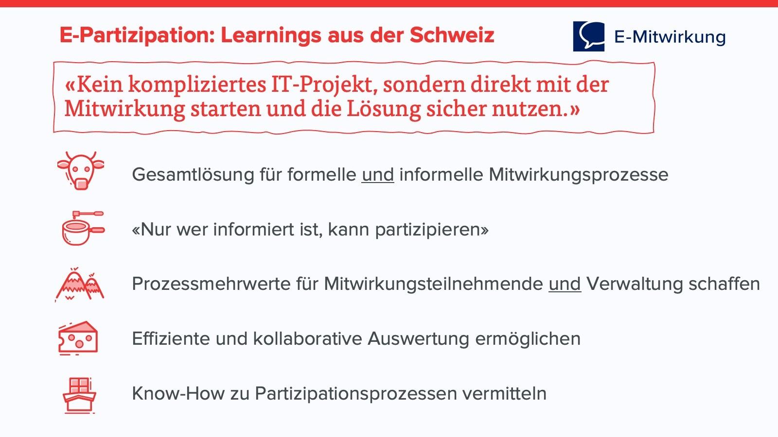 E-Partizipation in der Schweiz