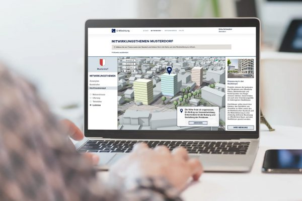 Digitale Gesamtlösung für Mitwirkungsprozesse in der Raum-, Verkehrs- und Ortsplanung.